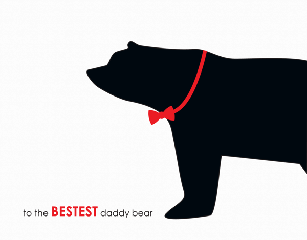 Cute bear illustration father's day card