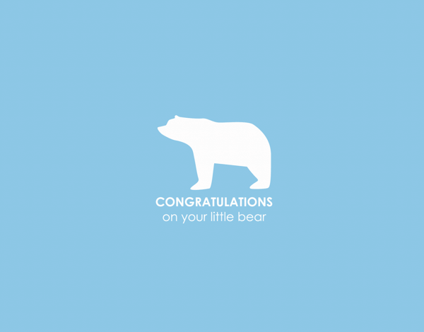 Charming Bear Congratulations on new baby card