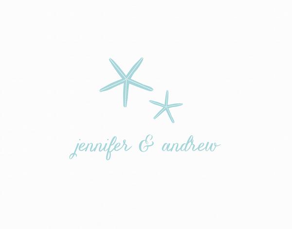 Blue Starfish Thank You card