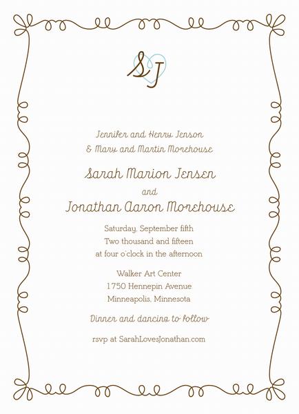 Whimsy Key Invitation