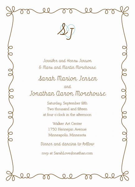 Whimsy Key Invitation