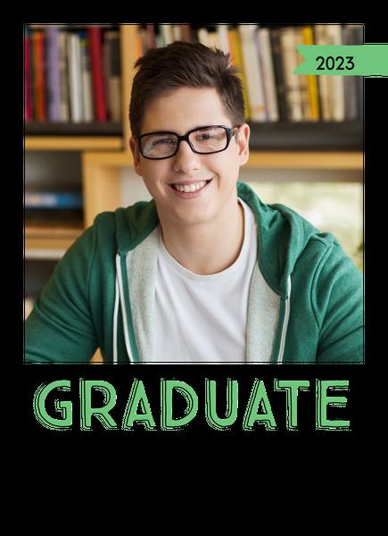 Green Accents Graduation Announcement