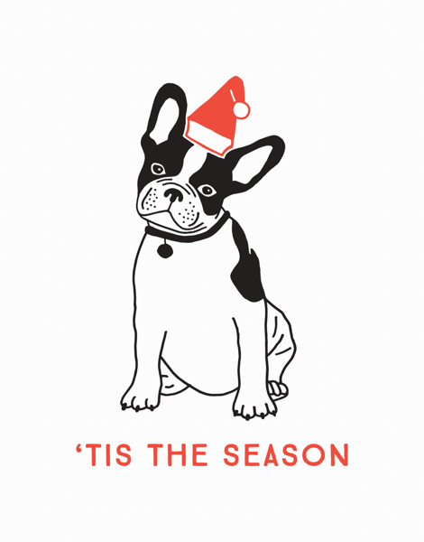 funny dog 'tis the season greeting card