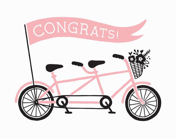 Tandem Bike Congrats