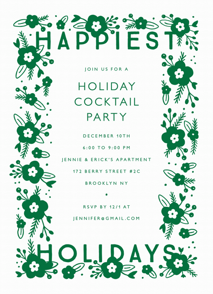 Happiest Holidays Invite