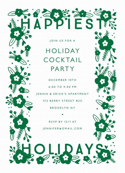 Happiest Holidays Invite