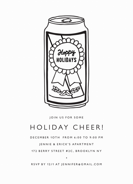 Hoppy Holidays Invite