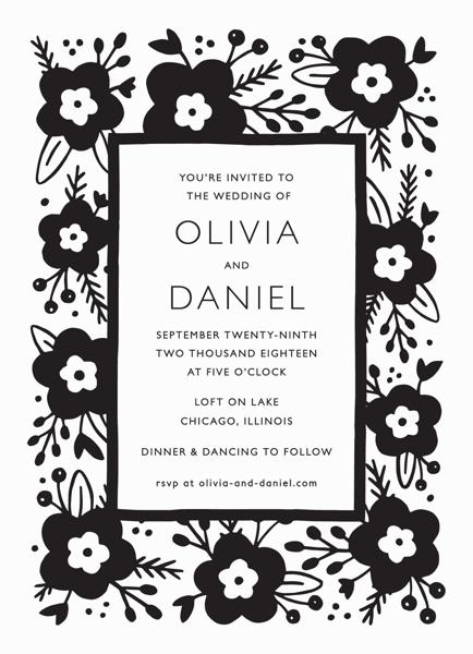 Lovely Floral Invitation