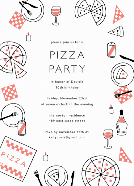Pizza Party Invite