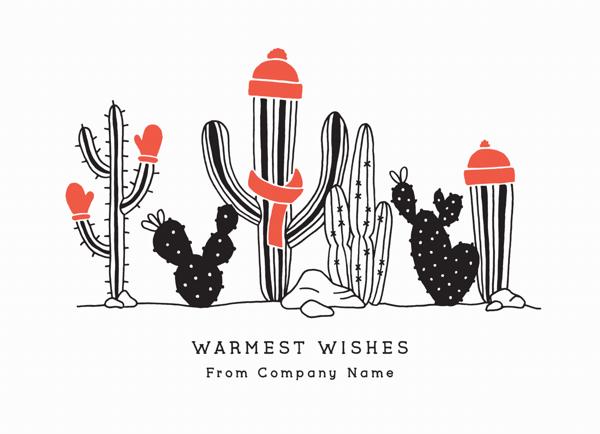 Festive Cacti Flat
