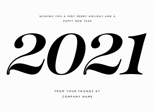 Big Type New Year