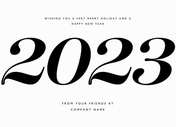 Big Type New Year