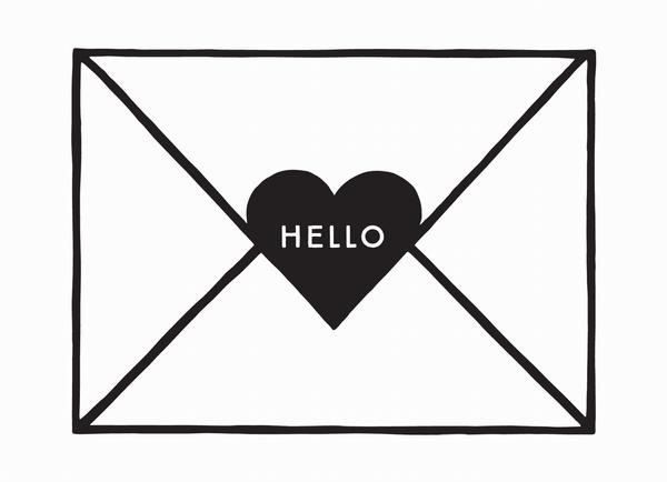 Hello Heart Envelope