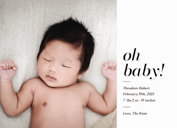 Oh Baby Announcement