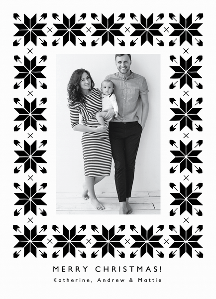 black-and-white-snowflakes-holiday-card
