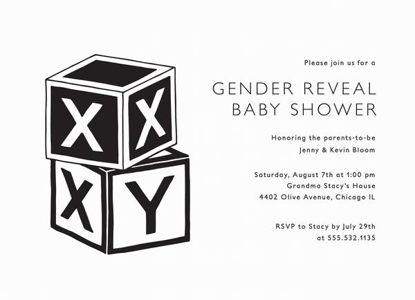 Baby Blocks Gender Reveal