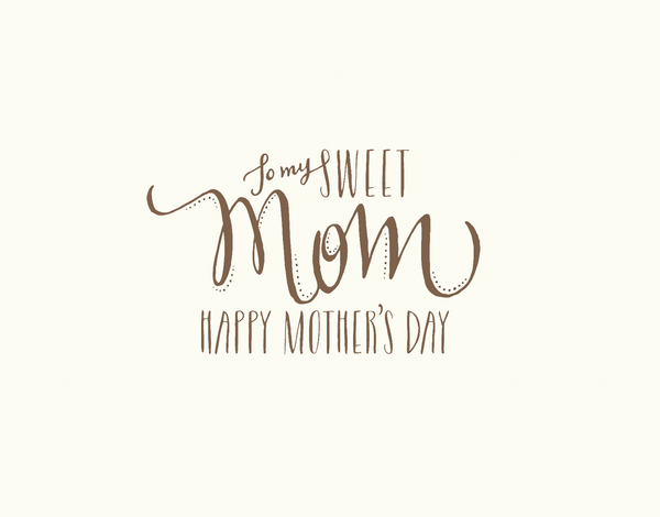 Chic Hand Lettered Mother's Day Card