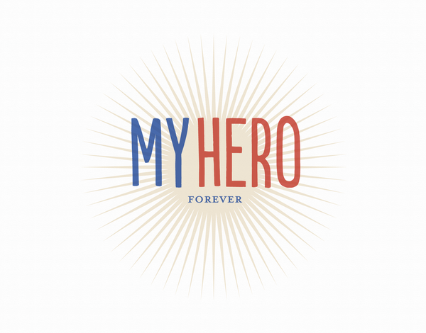 Vintage My Hero Greeting Card