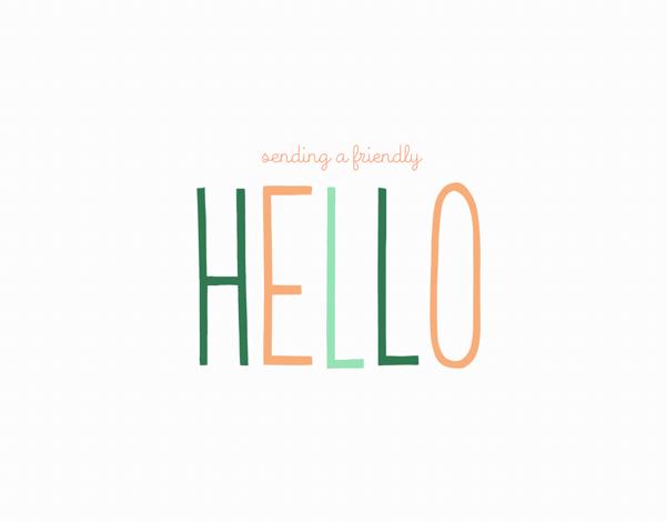 Friendly Hello