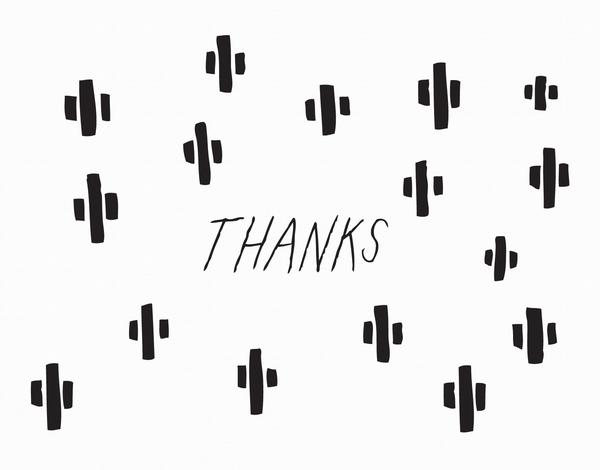 Cactus Illustration Thanks Greeting