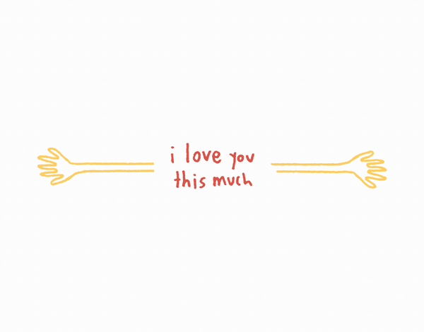Quirky I love you This Much Love Card