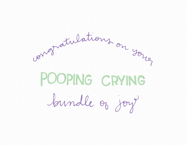Funny Handwritten Congratulations on new baby Card