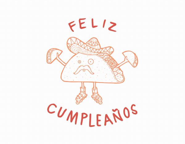 Funny Feliz Cumpleanos Taco Birthday Card