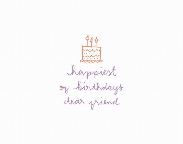 Cake Doodle Happiest of Birthdays Greeting