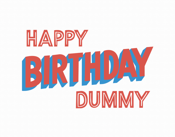 Retro Happy Birthday Dummy Greeting