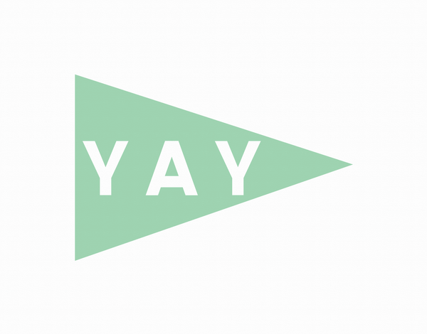 Yay Pennant Mint Greeting Card