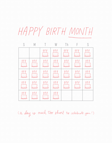 Happy Birthday Month