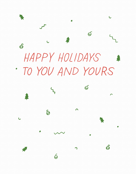 Holiday Confetti Card