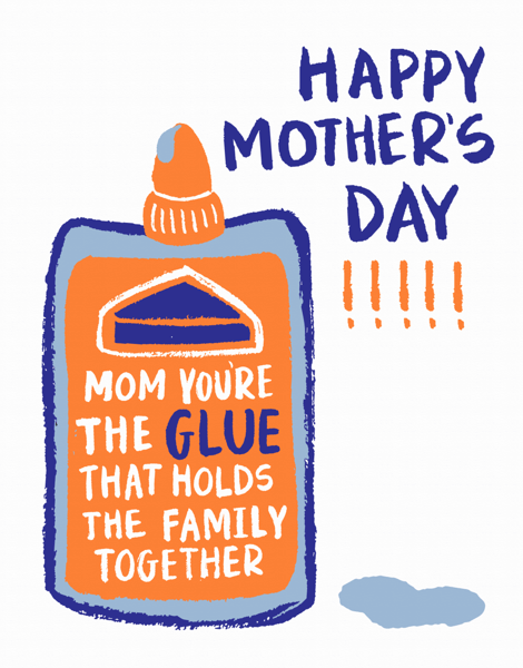 Mother's Day Glue Bottle
