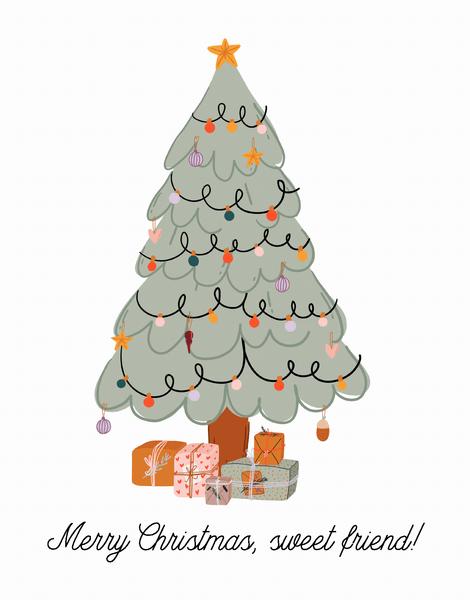 Merry Christmas Sweet Friend