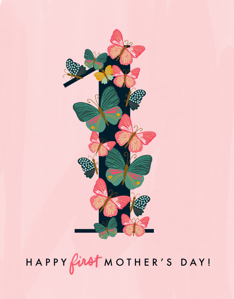 Butterflies First Mother's Day