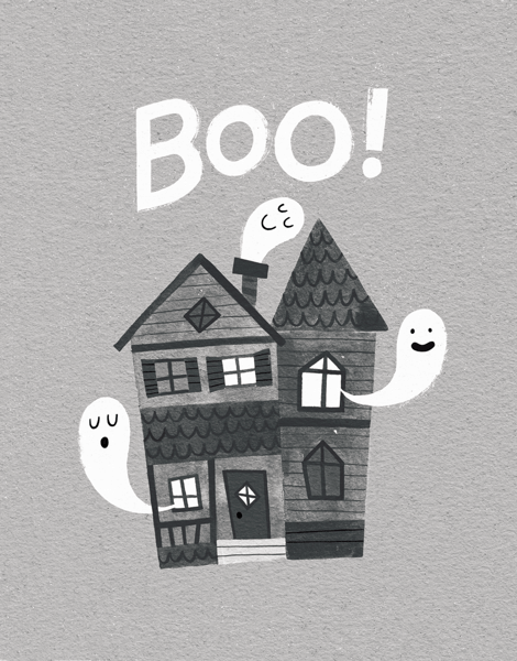Silly Ghosts Boo Halloween Card