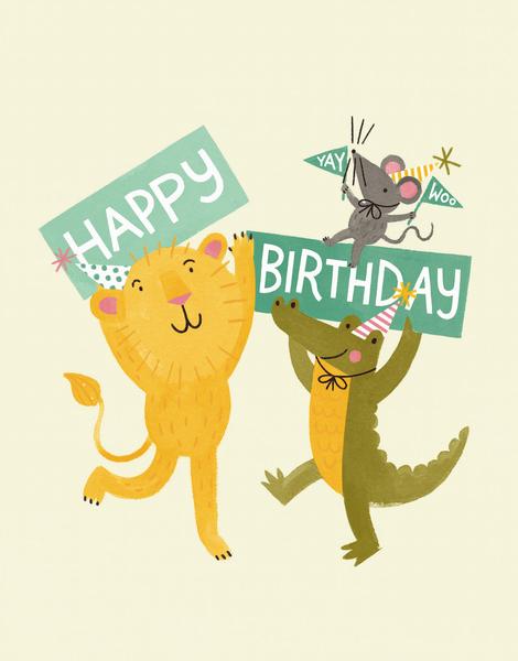 Animal Birthday Signs
