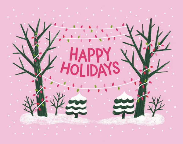 Snowy Pink Holiday