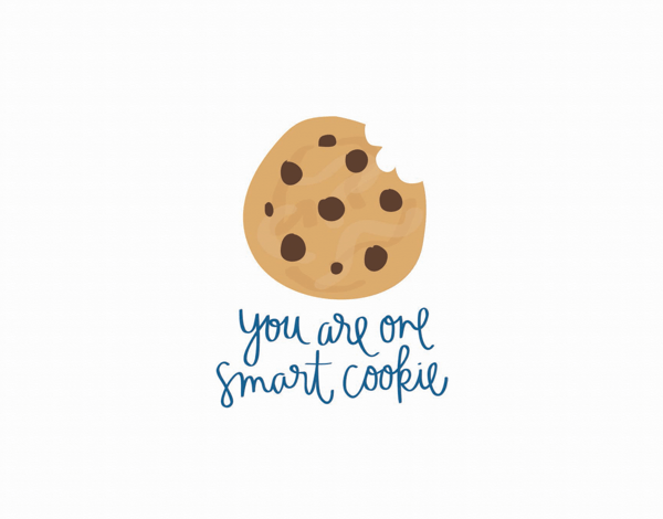 One Smart Cookie Pun Graduation Congrats Card