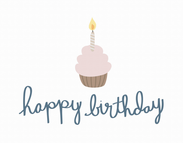Adorable Cupcake Happy Birthday Card