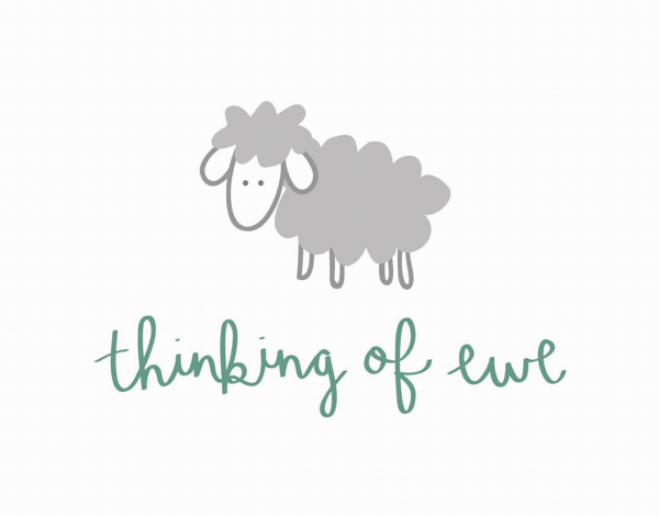 Adorable Thinking of Ewe I Miss You Card