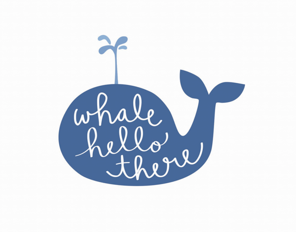 Playful Pun Whale Hello Card