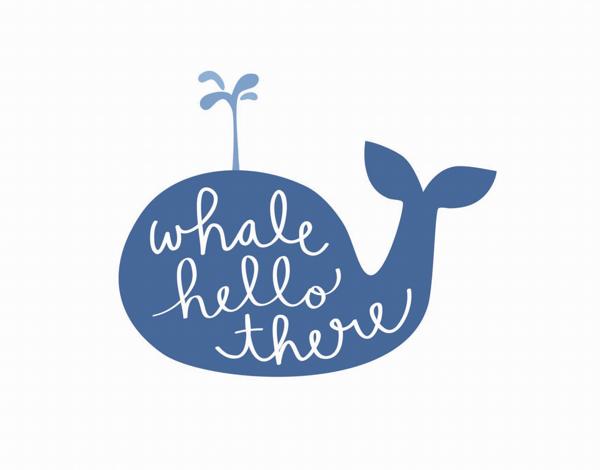 Playful Pun Whale Hello Card