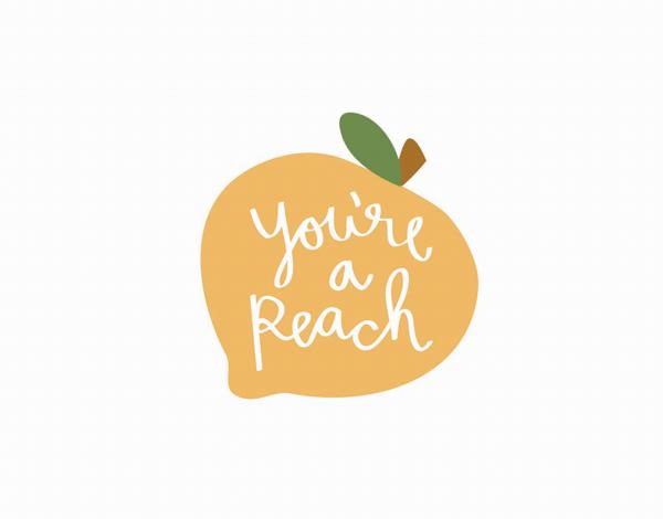 Script You're a Peach Friend Card
