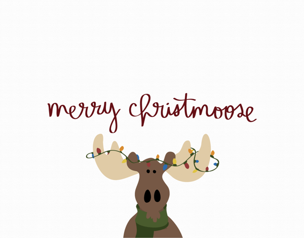 Merry Christmoose Holiday Card