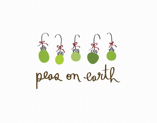 Peas on Earth Holiday Card