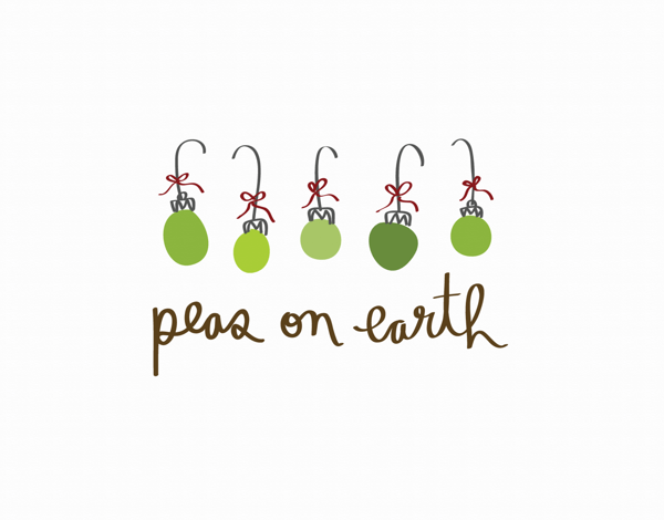 Peas on Earth Holiday Card