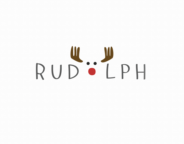 Rudolph Holiday Card