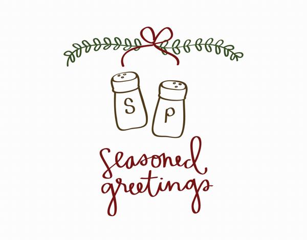 Seasoned Greetings Holiday Card