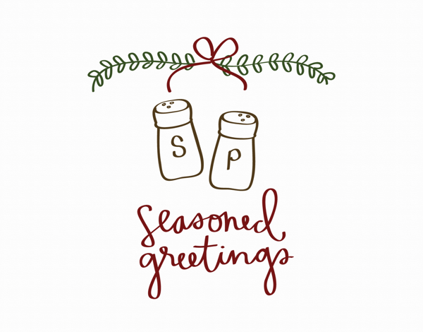 Seasoned Greetings Holiday Card
